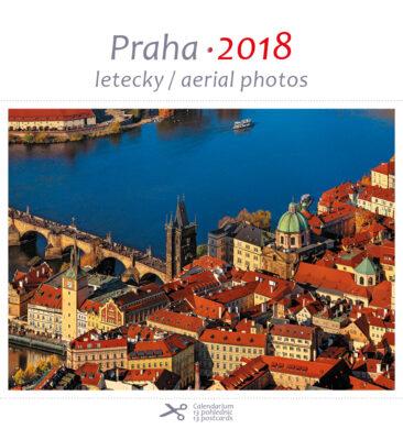 Praha - letecky / pohl. kal. na rok 2018(8595115203207)