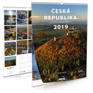 Česká republika - letecky / nástěnný kalendář na rok 2019(8595115203634)