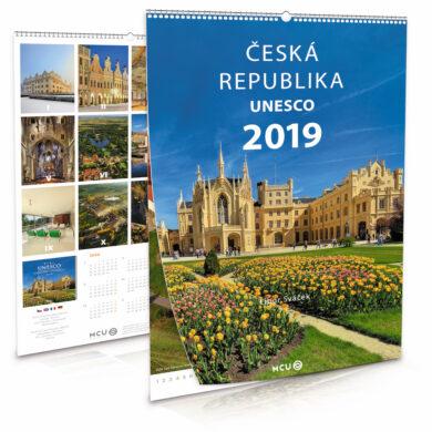 Česká republika UNESCO / nástěnný kalendář na rok 2019(8595115203672)