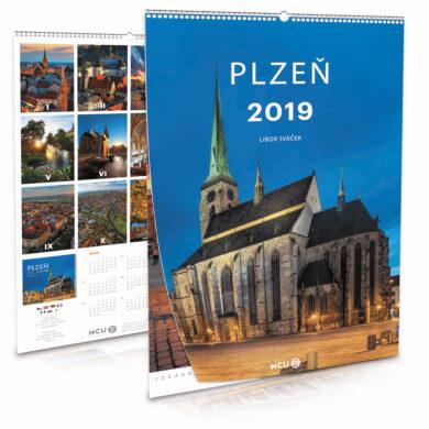 Plzeň / nástěnný kalendář na rok 2019(8595115203795)