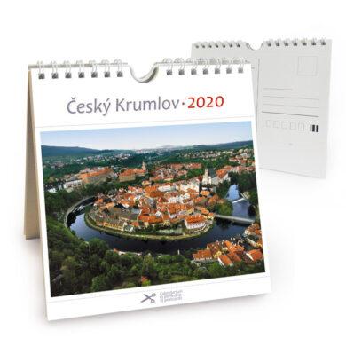 Český Krumlov - letecký / pohl. kal. na rok 2020(8595115204013)