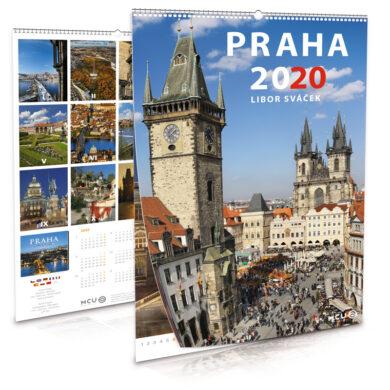Praha / nástěnný kalendář na rok 2020(8595115204167)