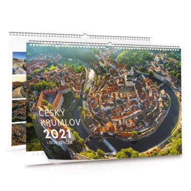 Český Krumlov / nástěnný kalendář na rok 2021 na šířku(8595115204358)