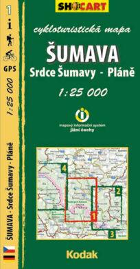 Šumava - Pláně / cykloturistická mapa č. 1  1:25 000(9788073390617)
