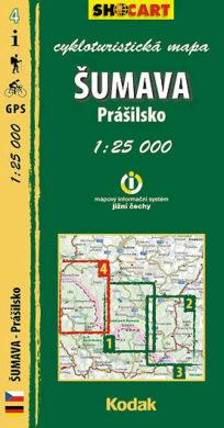 Šumava - Prášilsko / cykloturistická mapa č. 4  1:25 000(9788073390730)