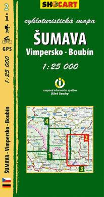 Šumava - Vimpersko, Boubín / cykloturistická mapa č. 2  1:25 000(9788073390747)