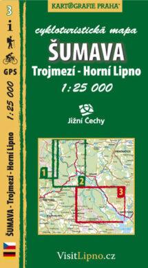 Šumava - Trojmezí, Horní Lipno / cykloturistická mapa č. 3  1:25 000(9788073390754)
