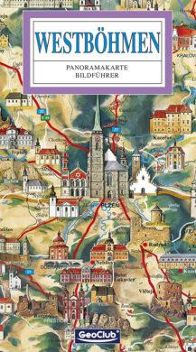 Západní Čechy / panoramatická mapa  německy(9788086374406)