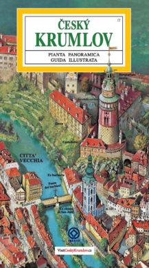 Český Krumlov - město / panoramatická mapa  italsky(9788086374710)