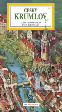 Český Krumlov - město / panoramatická mapa  španělsky(9788086374918)