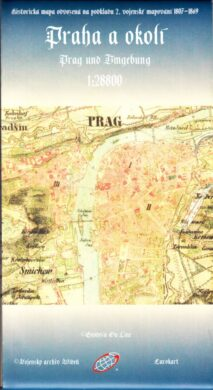 Praha a okolí / faksimile 1807-1869  1:28 800(9788086782133)