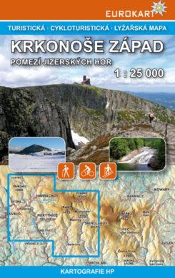 Krkonoše - západ / cykloturistická mapa 1:25 000(9788086782317)