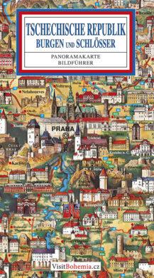 Česká republika / panoramatická mapa  německy(9788086893020)