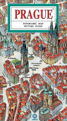Praha / panoramatická mapa  anglicky(9788086893334)