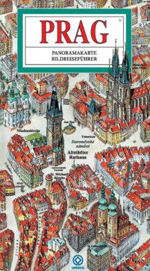Praha / panoramatická mapa  německy(9788086893341)