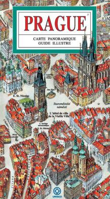 Praha / panoramatická mapa  francouzsky(9788086893365)