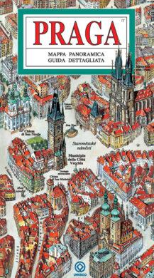 Praha / panoramatická mapa  italsky(9788086893372)