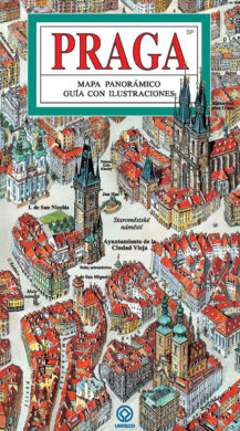 Praha / panoramatická mapa  španělsky(9788086893389)