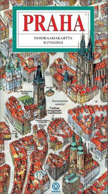 Praha / panoramatická mapa  finsky(9788086893440)