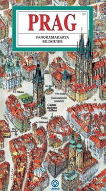 Praha / panoramatická mapa  švédsky(9788086893457)