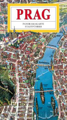 Praha / panoramatická mapa velká  německy(9788086893792)
