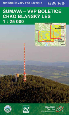Šumava - VVP Boletice, CHKO Blanský les / cykloturistická mapa 1:25 000(9788087380109)