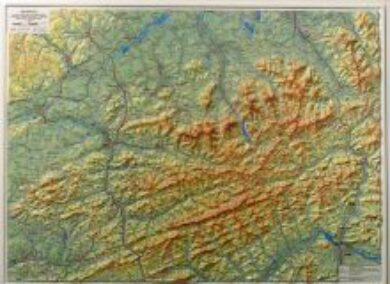 Beskydy / plastická mapa 1:100 000(X036)