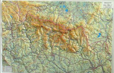 Krkonoše / plastická mapa  1:66 666(X277)