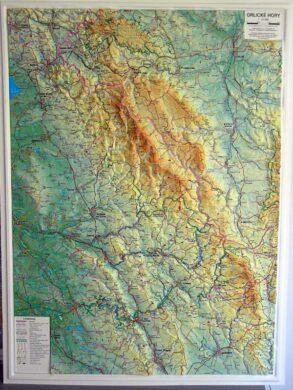 Orlické hory / plastická mapa 1:75 000(X278)