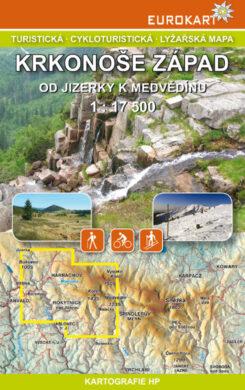 Krkonoše - západ / cykloturistická mapa 1:17 500(X337)