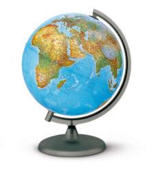 Globus - Orion 25cm-Světelný globus se zeměpisnou mapou, po rozsvícení mapa politická. br