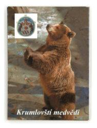 Leporelo Medvědi-Populární devítiobrázkové leporelo zachycuje výjevy ze života medvědů chovaných na krumlovském zámku