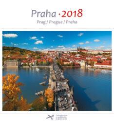 Praha / pohl. kal. na rok 2018-Kalendář je možno zavěsit na stěnu i postavit na stůl. Jednotlivé listy lze použít jako pohlednice.