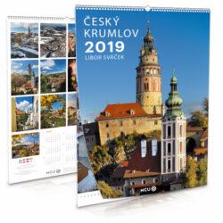 Český Krumlov / nástěnný kalendář na rok 2019-Letecké i pozemní snímky L. Sváčka