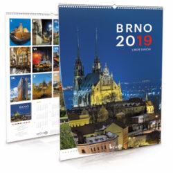 Brno / nástěnný kalendář na rok 2019-Letecké i pozemní snímky L. Sváčka