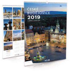 České Budějovice / nástěnný kalendář na rok 2019-Letecké i pozemní snímky L. Sváčka