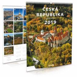 Česká republika / nástěnný kalendář na rok 2019-Letecké i pozemní snímky L. Sváčka