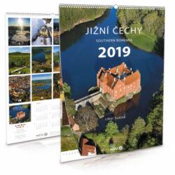 Jižní Čechy / nástěnný kalendář na rok 2019-Letecké i pozemní snímky L. Sváčka