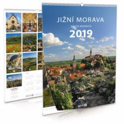 Jižní Morava / nástěnný kalendář na rok 2019-Letecké i pozemní snímky L. Sváčka