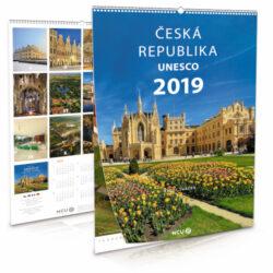 Česká republika UNESCO / nástěnný kalendář na rok 2019-Letecké i pozemní snímky L. Sváčka