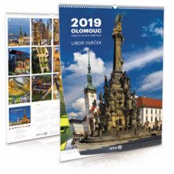 Olomouc / nástěnný kalendář na rok 2019-Letecké i pozemní snímky L. Sváčka