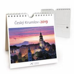 Český Krumlov - červánek / pohl. kal. na rok 2019-Kalendář je možno zavěsit na stěnu i postavit na stůl. Jednotlivé listy lze použít jako pohlednice.