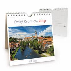 Český Krumlov - řeka / pohl. kal. na rok 2019-Kalendář je možno zavěsit na stěnu i postavit na stůl. Jednotlivé listy lze použít jako pohlednice.