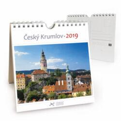 Český Krumlov - věže / pohl. kal. na rok 2019-Kalendář je možno zavěsit na stěnu i postavit na stůl. Jednotlivé listy lze použít jako pohlednice.