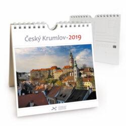 Český Krumlov - zámek / pohl. kal. na rok 2019-Kalendář je možno zavěsit na stěnu i postavit na stůl. Jednotlivé listy lze použít jako pohlednice.