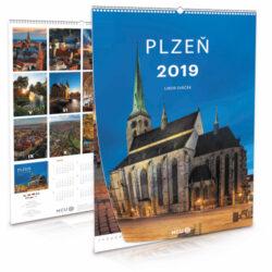 Plzeň / nástěnný kalendář na rok 2019-Letecké i pozemní snímky L. Sváčka