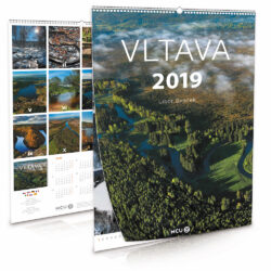 Vltava / nástěnný kalendář na rok 2019-Letecké i pozemní snímky L. Sváčka