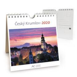Český Krumlov - červánek / pohl. kal. na rok 2020-Kalendář je možno zavěsit na stěnu i postavit na stůl. Jednotlivé listy lze použít jako pohlednice.