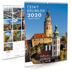 Český Krumlov / nástěnný kalendář na výšku na rok 2020-Letecké i pozemní snímky L. Sváčka