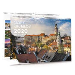 Český Krumlov / nástěnný kalendář na šířku na rok 2020-Letecké i pozemní snímky L. Sváčka